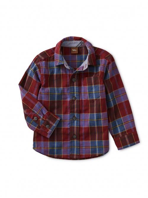 Family Plaid Baby Shirt