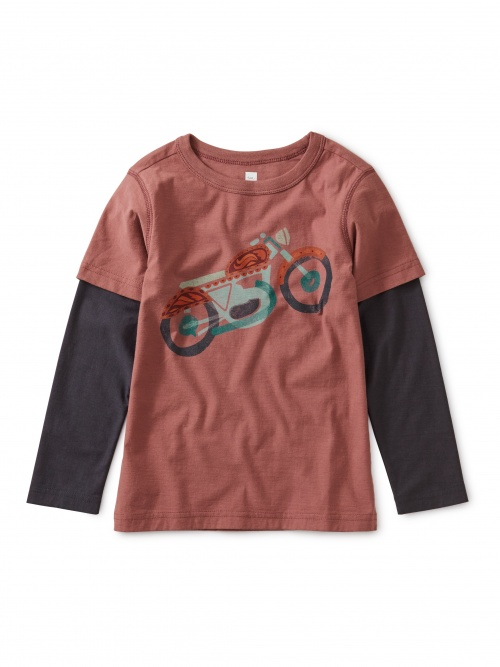 Motorcycle Layered Graphic Tee