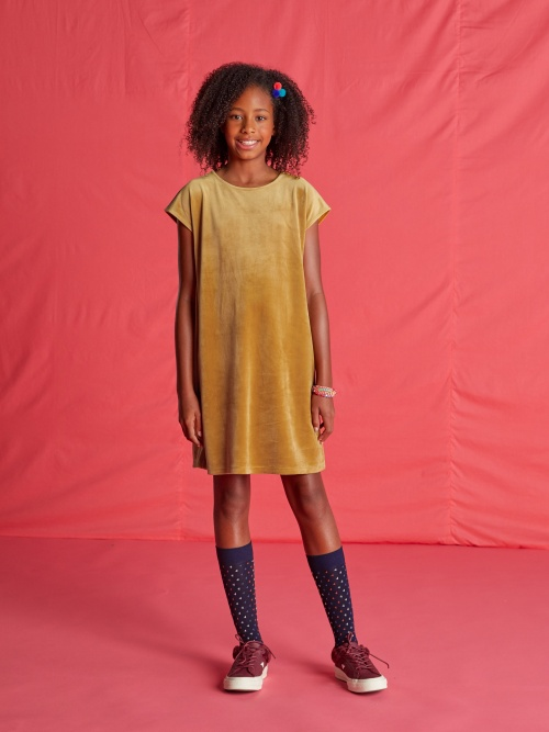 Velour Shift Dress