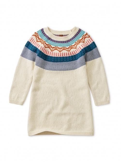 Fox Fairisle Sweater Dress