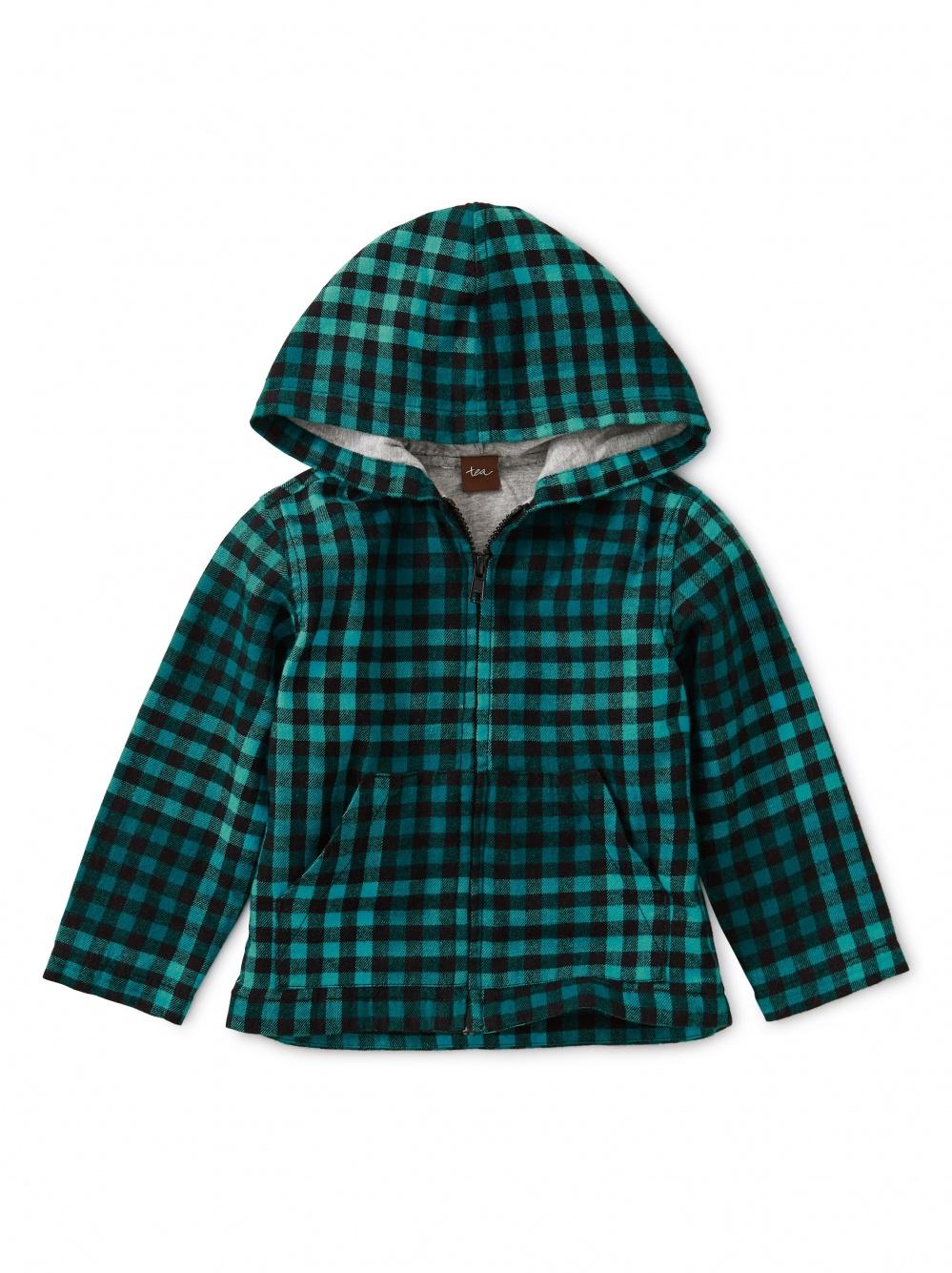 Plaid Zip Baby Hoodie