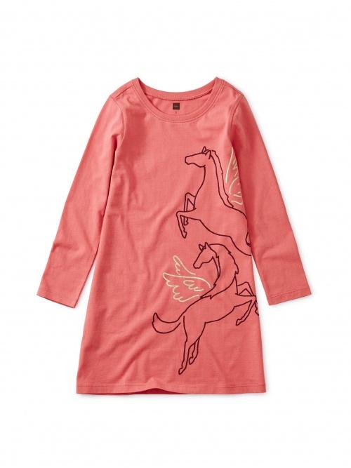 Metallic Wind Horse Dress