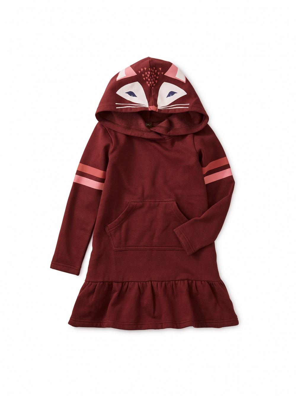 Fox Hooded Sweatshirt Dress