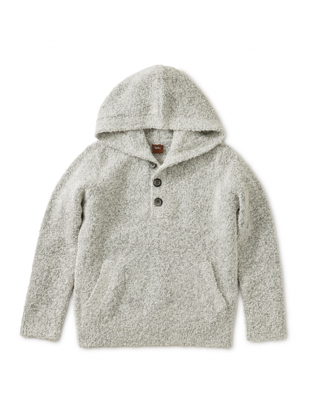Bouclé Hooded Pullover Sweater