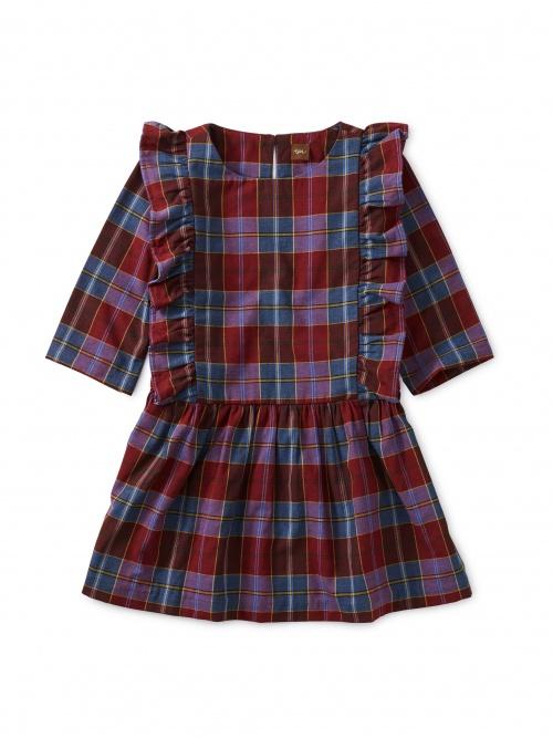 Family Plaid Ruffle Dress
