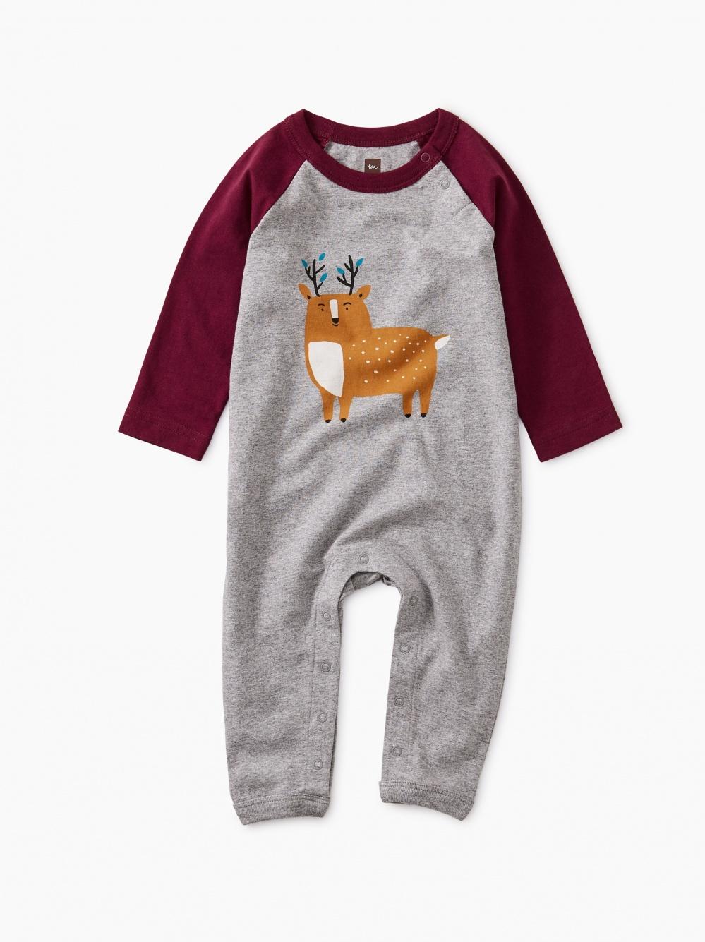 Deer Raglan Romper
