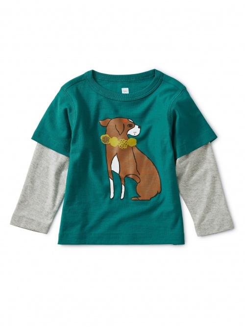 Layered Dog Baby Graphic Tee