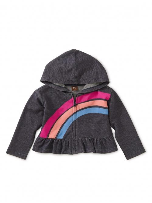 Rainbow Denim-like Zip Hoodie