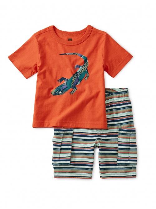 Geo Lizard Baby Set