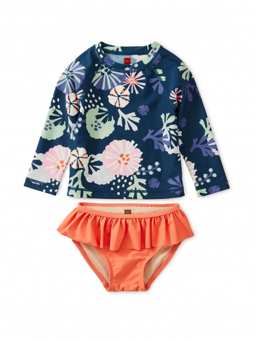Printed Rash Guard Baby Set