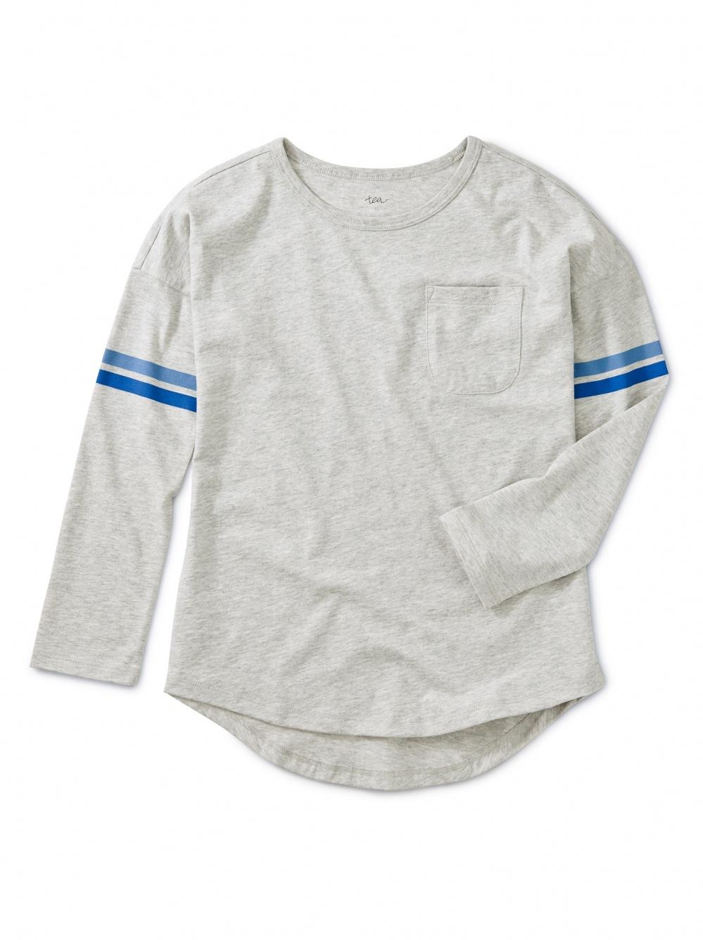 Striped Sleeve Pocket Tee