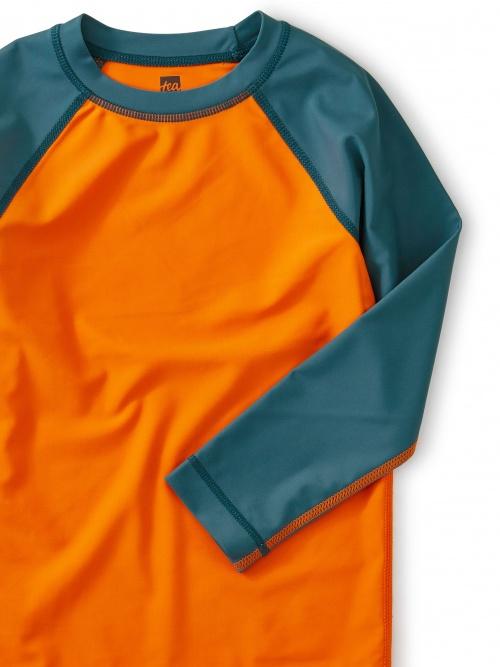 Colorblock Long Sleeve Rash Guard