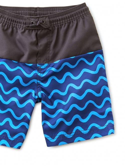Colorblock Full-Length Swim Trunks