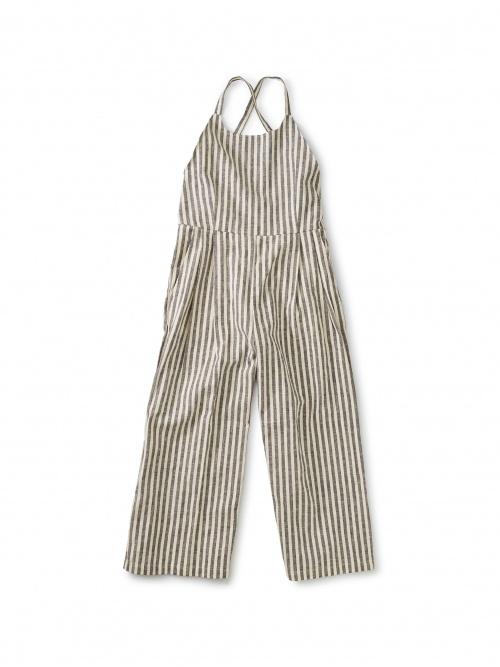 Striped Culotte Romper