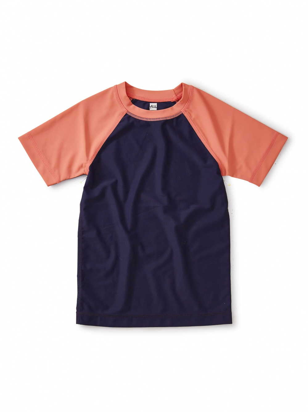 Colorblocked Short Sleeve Rash Guard