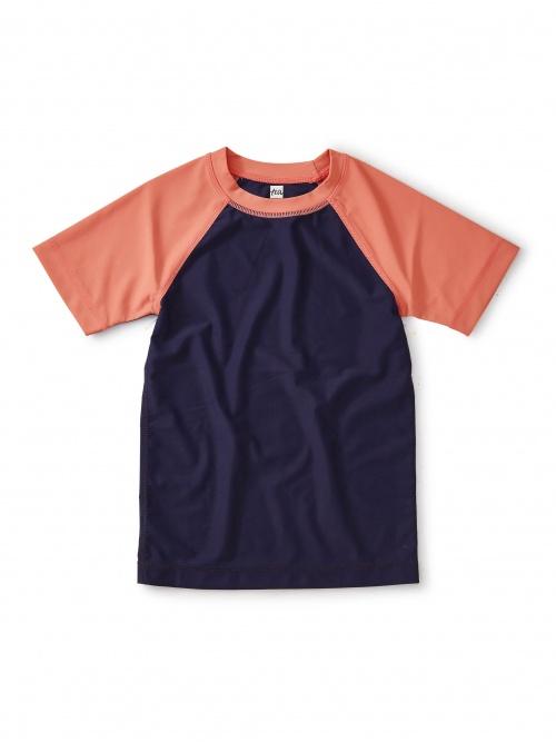 Colorblocked Short Sleeve Rash Guard