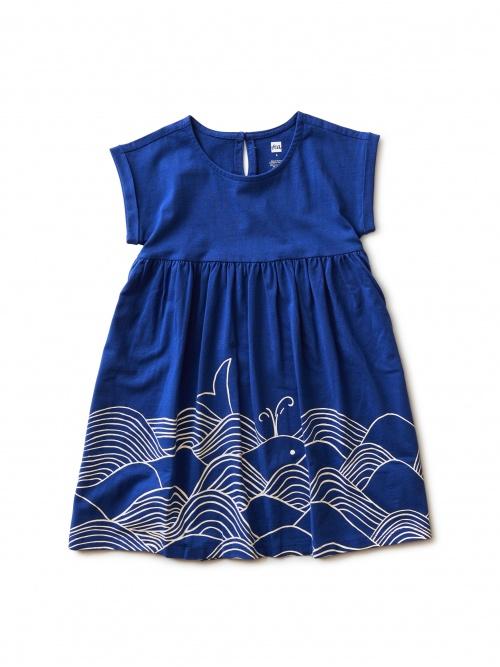 Minoan Whale Graphic Dress