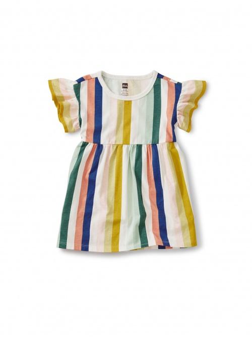 Flowy Ruffles Sleeve Dress