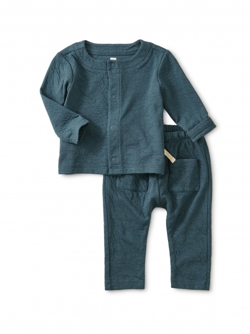 Match Made Teal Crinkle Outfit