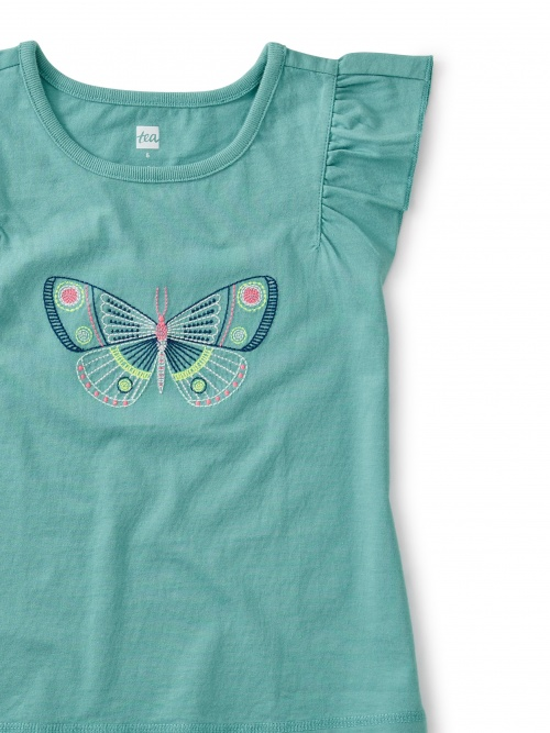 Embroidered Butterfly Tee