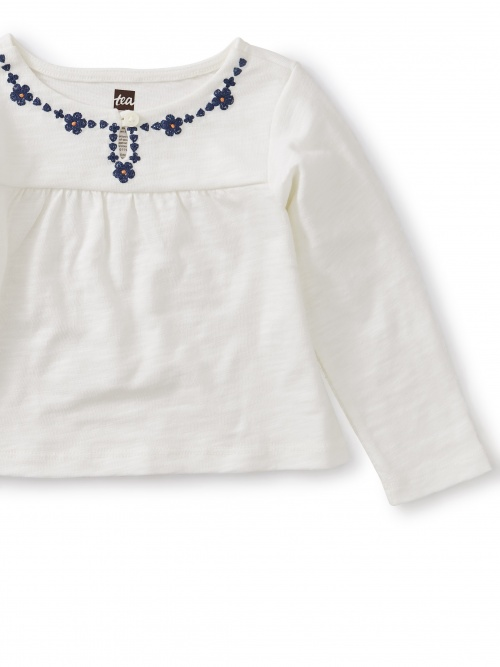 Embroidered Necklace Baby Top