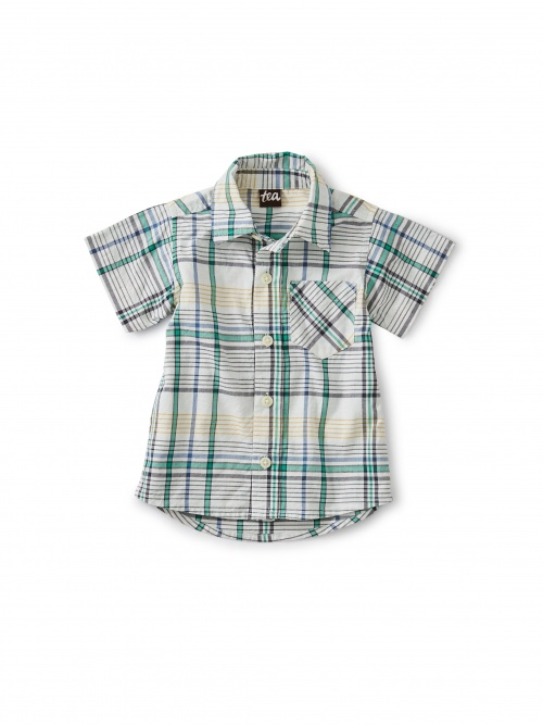 Madras Woven Baby Shirt