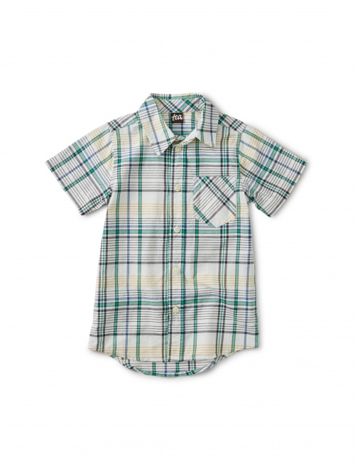 Madras Plaid Woven Shirt