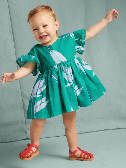 Ruffle Sleeve Baby Dress