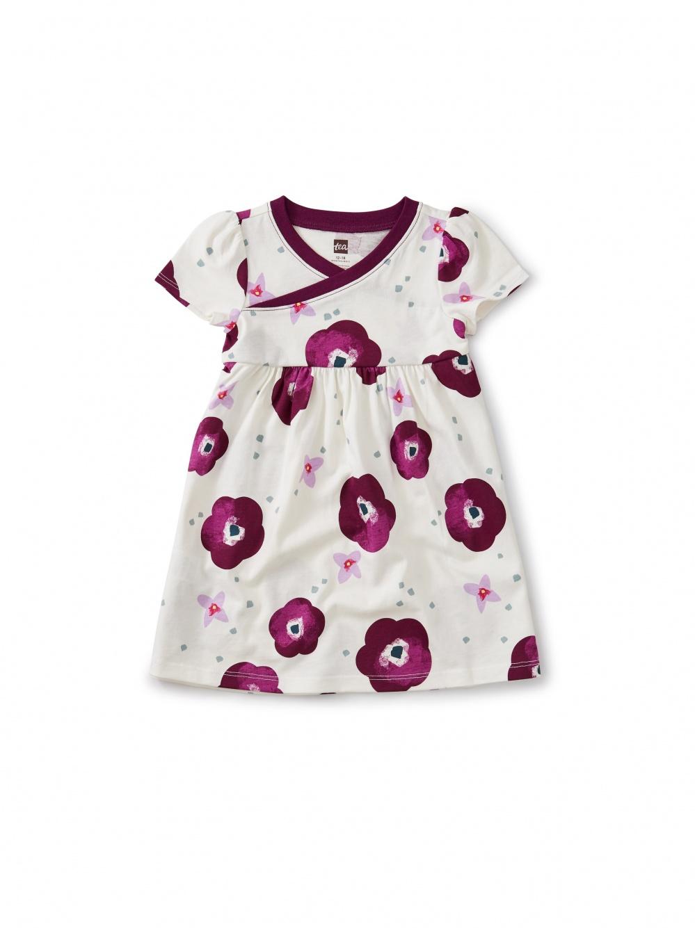Bougainvillea Wrap Baby Dress