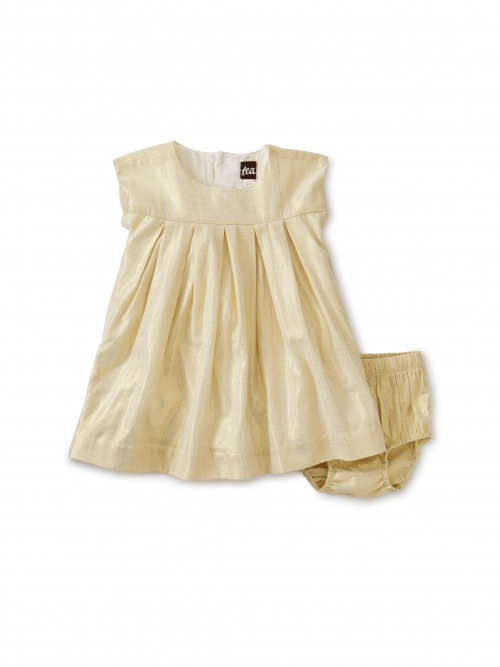 Pleated Baby Dress