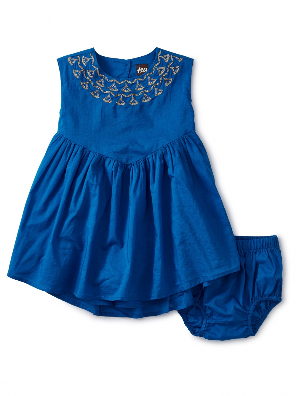 Embroidered Hi-Lo Baby Dress