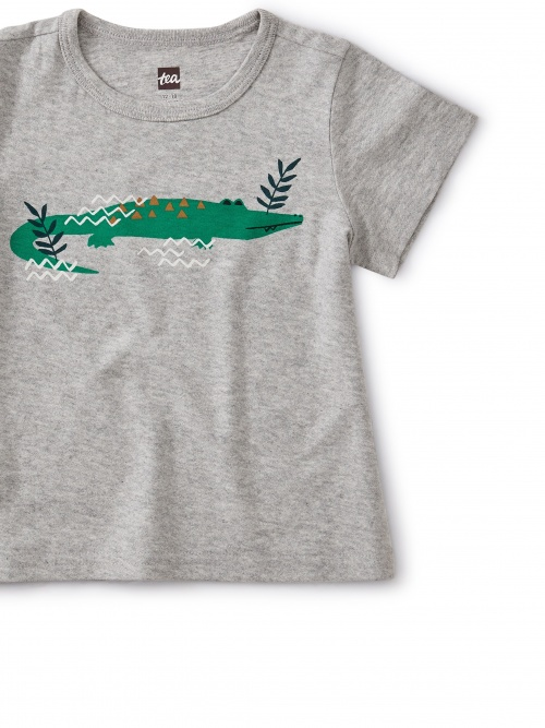 Curious Crocodile Baby Tee