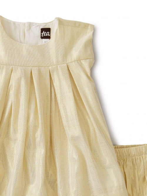 Pleated Baby Dress