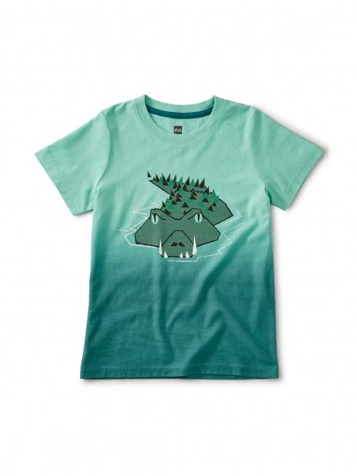 Dip Dye Crocodile Swamp Tee