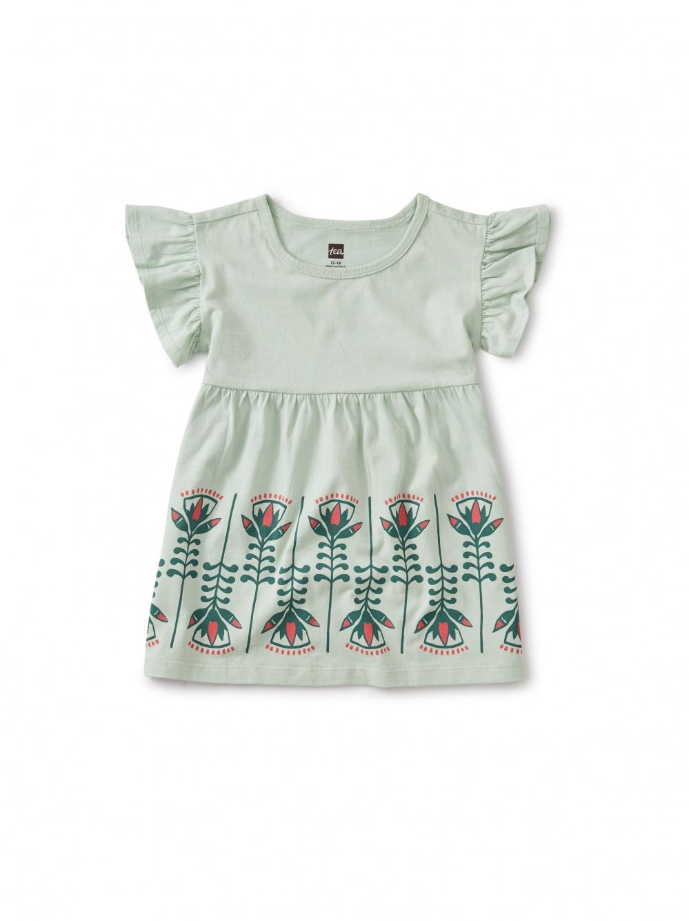 Lotus Rebirth Ruffle Dress