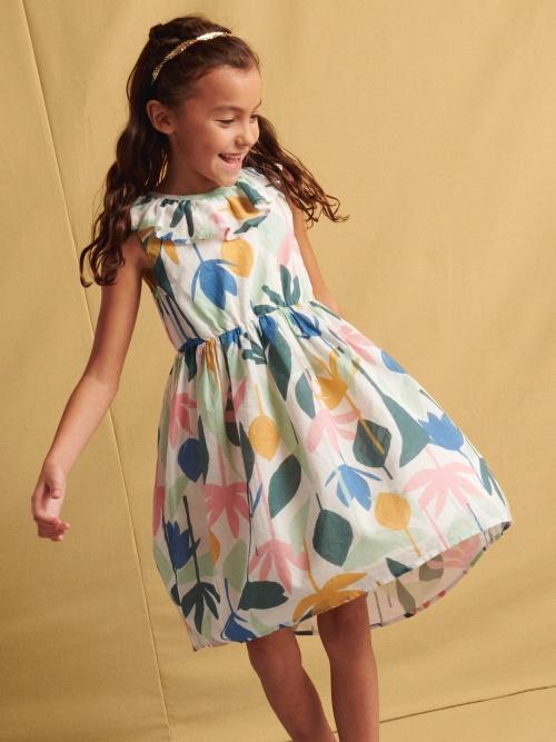 Ruffle Hi-Lo Dress