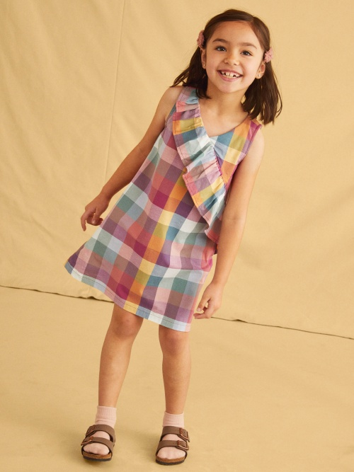 Madras Ruffle Dress