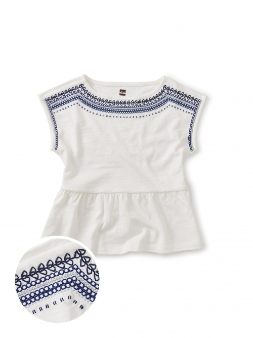 Embroidered Goddess Top