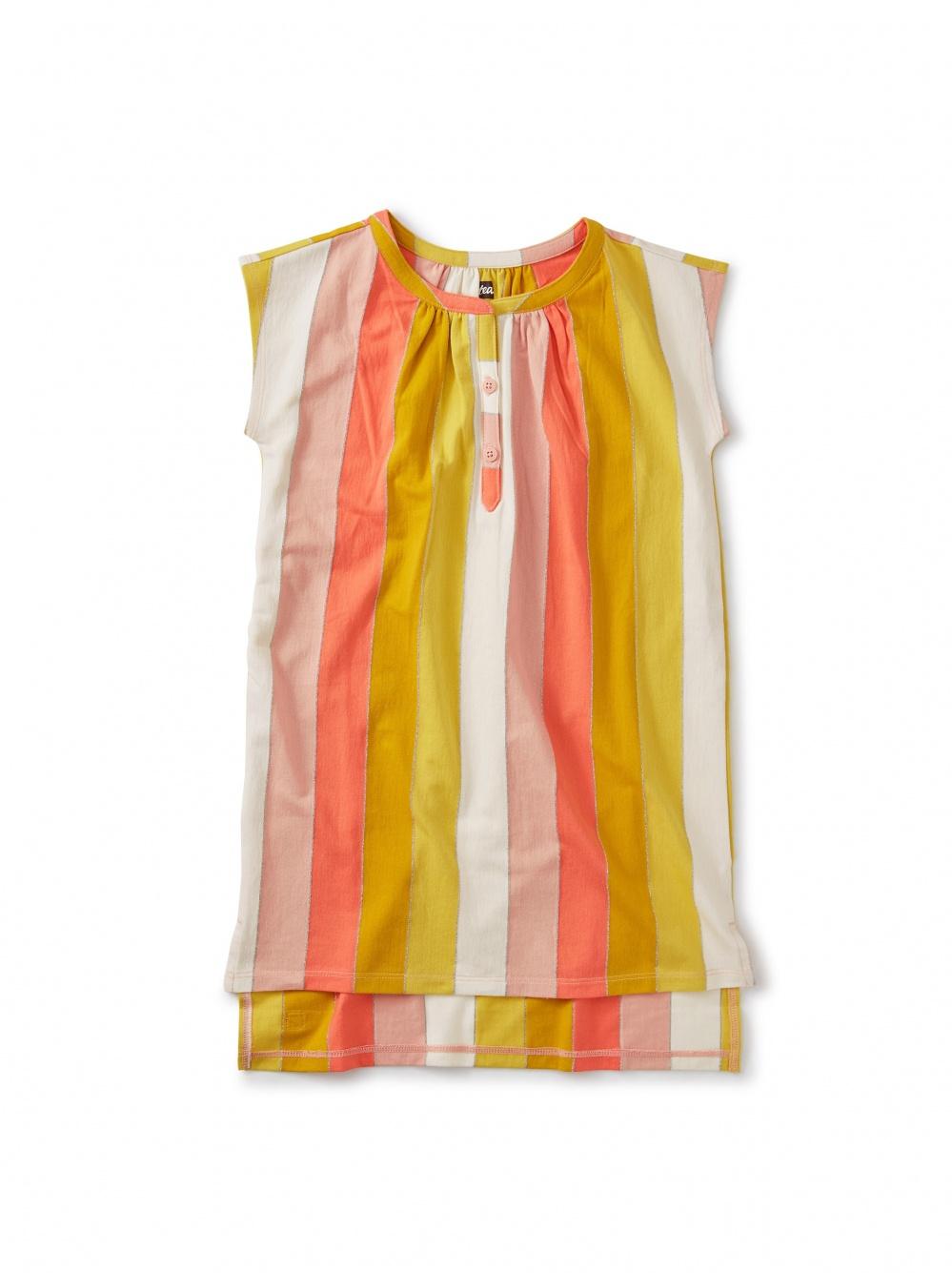 Metallic Stripe Kaftan Dress