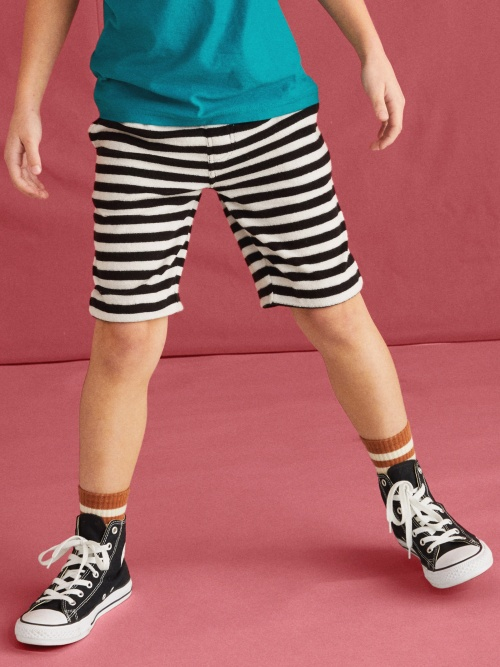Terry Striped Vacation Shorts