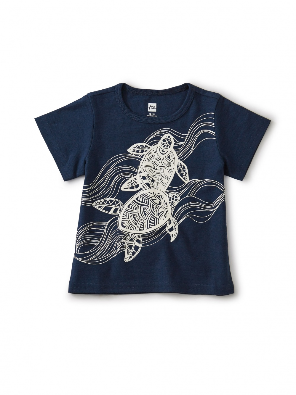 Turtle Graphic Baby Tee
