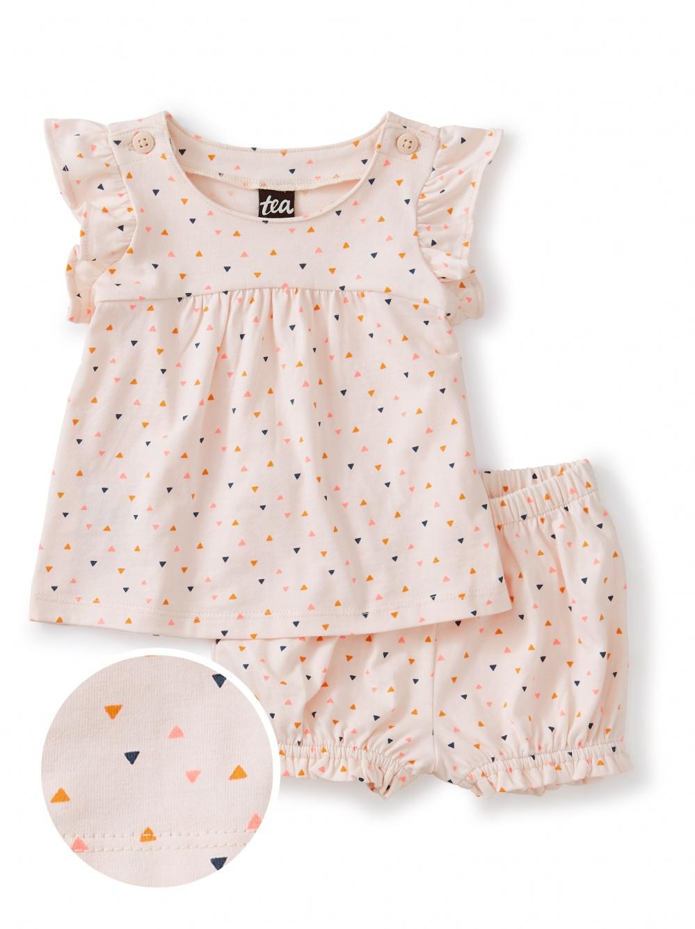 Button Shoulder Baby Set
