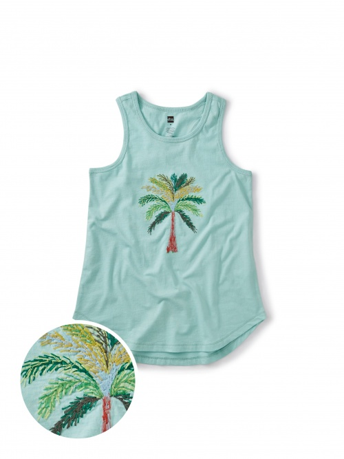 Akhmim Embroidered Palm Tank