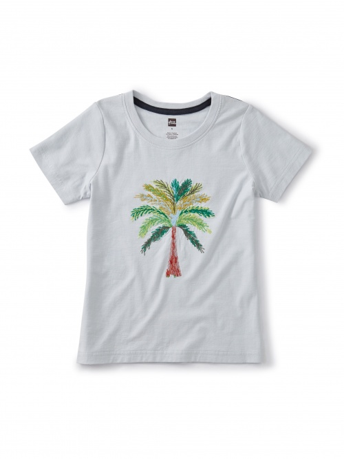 Akhmim Embroidered Palm Tee