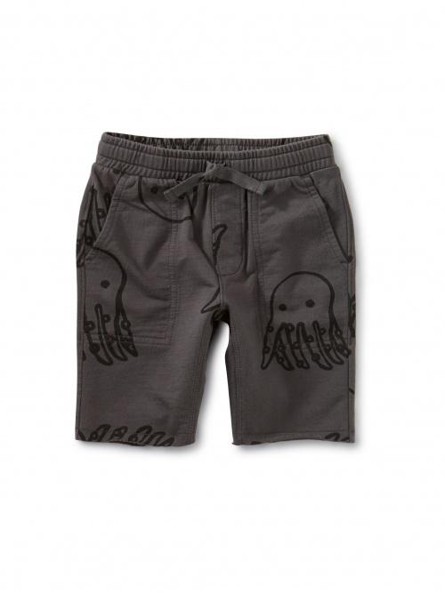 Printed Knit Gym Shorts