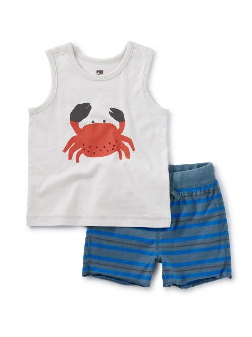 Crab Tank Baby Set