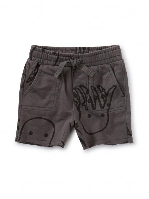 Printed Knit Gym Baby Shorts