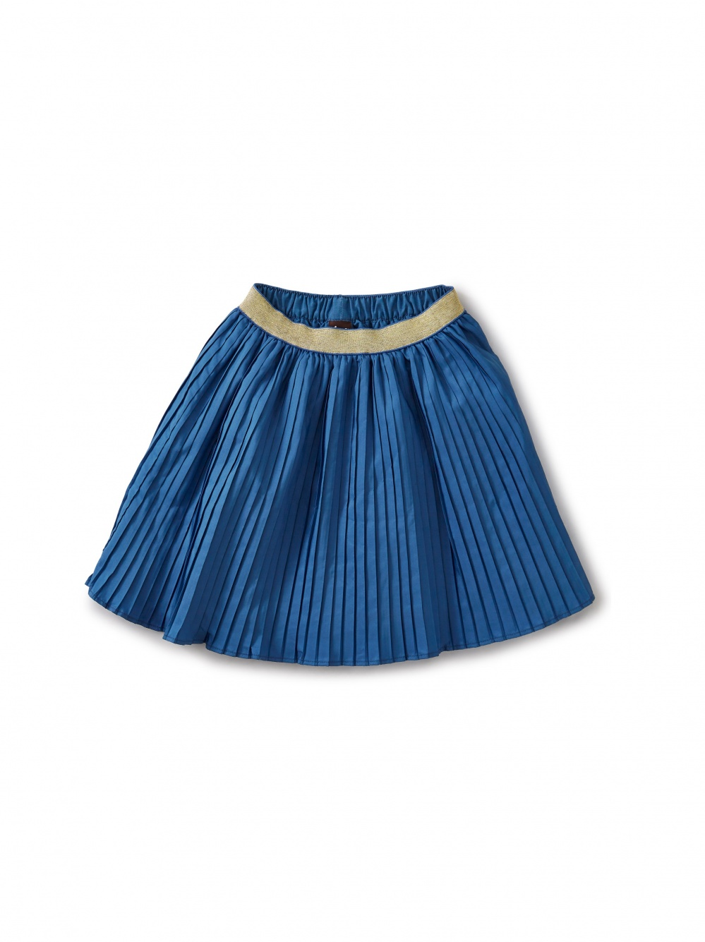 Metallic Waist Pleated Skirt