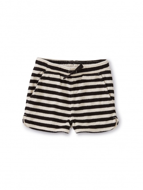 Stripe Terry Cloth Shorts