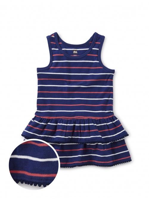 Pom Pom Trim Baby Dress